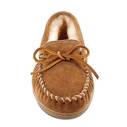 Women's Moccasin Tan Hardsole Minnetonka Sheepskin Golden rPqzrf7w