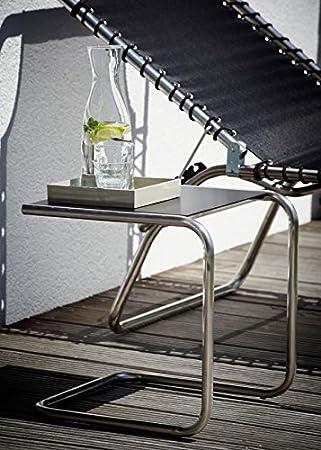 Beistelltisch Terrasse jan kurtz fiam schwarz 40cm alu beistelltisch jk team