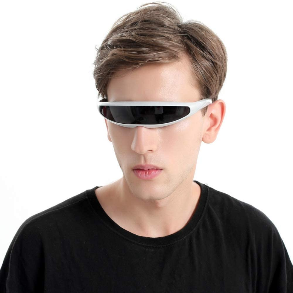 WWVAVA Gafas de Fiesta Futurista Narrow Cyclops Gafas de Sol UV400 ...