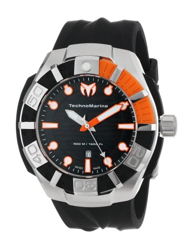 TechnoMarine-Mens-512001S-Black-Reef-Watch