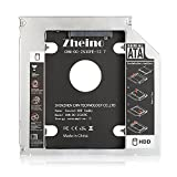 Zheino Aluminum 12.7MM 2nd Hard Disk Drive Caddy Case Adapter For Universal Laptop CD / DVD-ROM Optical Bay