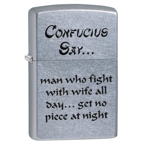 Zippo Confusius Dites Wife Nuit coupe-vent Briquet – Street Chrome
