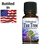 Tea Tree Essential Oil 100% Pure Certified Organic, Therapeutic Grade, Tea Tree Oil Used in Aromatherapy, Acne treatment, foot fungus, cold sores. Medicine Cabinet in a bottle. 10 ml Melaleuca