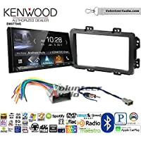 Volunteer Audio Kenwood DMX7704S Double Din Radio Install Kit with Apple CarPlay Android Auto Bluetooth Fits 2013-2014 Honda Civic (With Factory Nav)