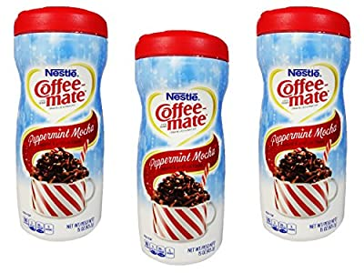 Nestle Coffee Mate Peppermint Mocha Powdered Non-Dairy Creamer, 15 oz (Pack of 3)