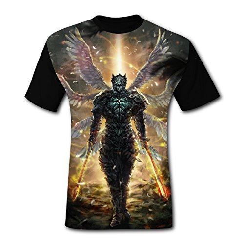 Angel Gabriel Costume For Men (Fashion Six Wings Angel Mens Tee T-shirt short sleeve Costume XXL)