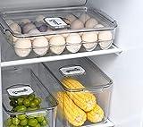 Ambergron 24 Eggs Holder for Refrigerator, Plastic