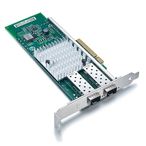 For Intel X520-DA2, 10GbE Converged Network Adapter (NIC), 82599ES Chipset, PCI-E X8, Dual SFP+ Port by ipolex