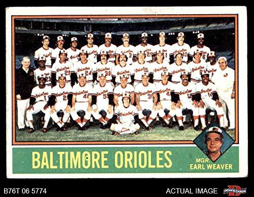 1976 Topps # 73 Orioles Team Checklist Earl Weaver Baltimore Orioles (Baseball Card) Dean's Cards 4 - VG/EX Orioles