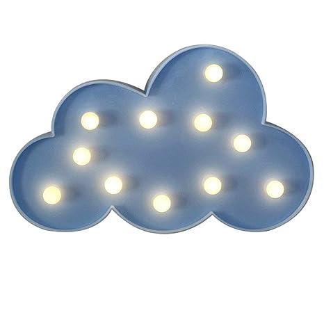 NHsunray Lámparas decorativas,Decoración Iluminación Lámpara de mesa de luz LED Iluminación de Navidad noche la luz lámparas de pared de fiesta ...