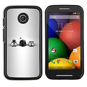 LECELL--Funda protectora / Cubierta / Piel For Motorola Moto E -- Estrella Soldados Cascos --