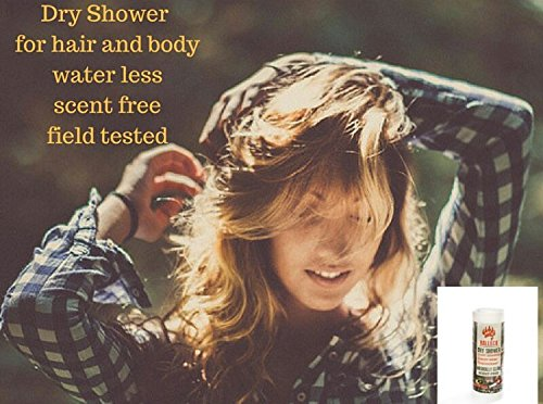 Balleck Dry Shower: Dry Shampoo Powder + Dry Body Wash + Scent Free Deodorant PH Balanced 3 in 1 Water-less Shower - Mossy Oak Dry Shower 5.5 oz
