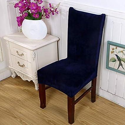 Amazon.com: Monster* Chair Cover Spandex Velvet Dining Chair Cover ...