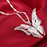 Hollow Pointed Butterfly Necklace Wings Multi-Layer Pendant Jewelry