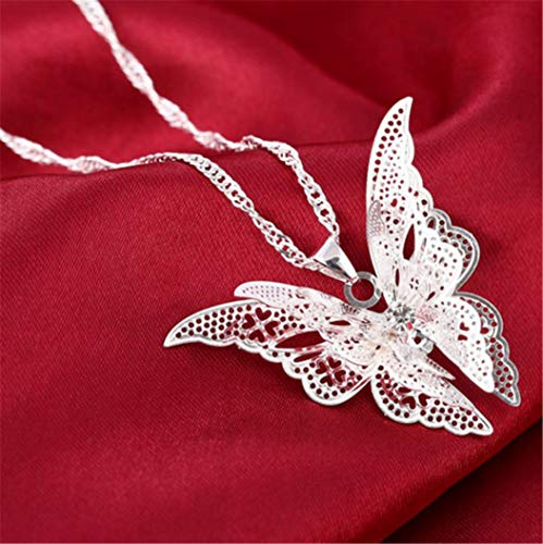 Hollow Pointed Butterfly Necklace Wings Multi-Layer Pendant Jewelry by PG-kisseller (Image #4)
