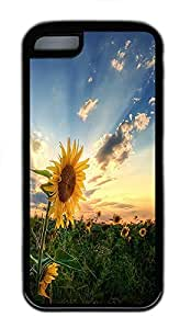for iphone 5/5S Case Sun Flower Cool TPU Custom for iphone 5/5S Case Cover Black