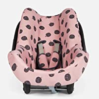 BAOBABS BCN - Funda Silla de Coche para Bebé | Grupo 0 | Universal | Con Refuerzo 3D y Transpirable | Color Pink Carbon…