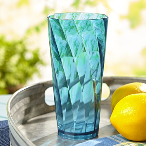 Optix 26-ounce Plastic Tumblers | set of 8 in 4 assorted colors by US Acrylic (Image #5)