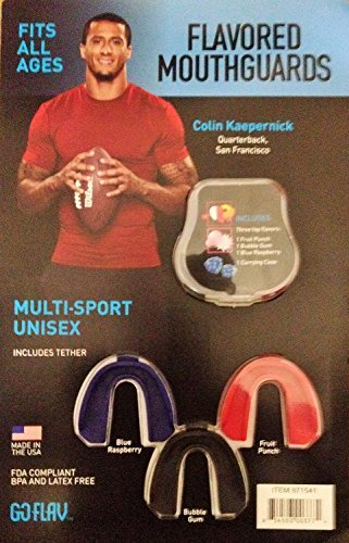 FLAVORED MOUTHGUARDS MULTI-SPORT UNISEX, FITS ALL AGES, FDA COMPLIANT BPA AND LATEX FREE