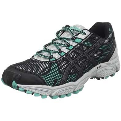 ASICS Women's GEL-Trail Attack 7 Running Shoe,Black/Silver/Aqua,12 M