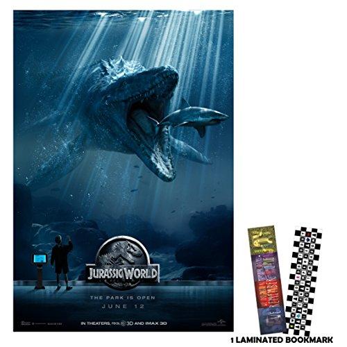 "Jurassic World (2015) - Shark - 13""x19"" Borderless Movie Poster"