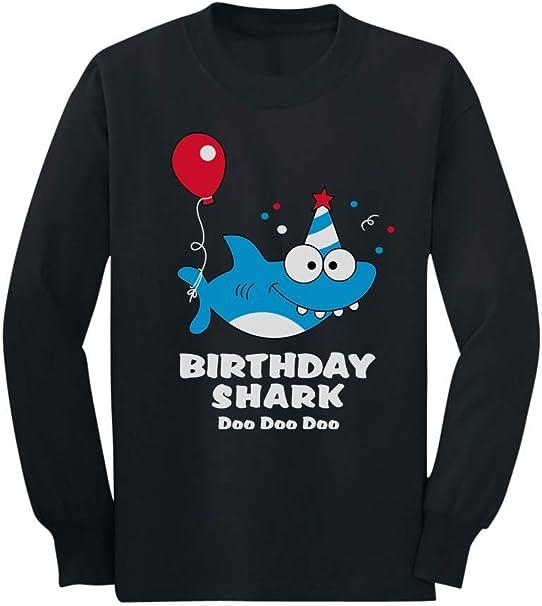 Birthday Shark Doo doo Song Funny Gift 3//4 Sleeve Baseball Jersey Toddler Shirt