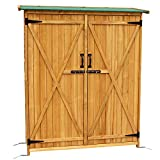 Mcombo Wooden Garden Shed Wooden Lockers with Fir Wood