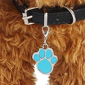 Fashion Popular Footprints Puppy Rhinestone Pendant Lovely Pet Jewelry kaifongfu (C)