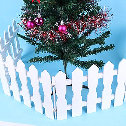 Christmas Picket Fence Christmas Tree Decor Wall Border Picket Fence Safety Pet Gate Baby Gate Fence BBQ Hearth Gate Installation-Free - Wall Fence Picket