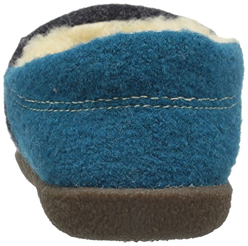 Wool Boiled Women's Acorn Moccasin Turquoise Edelweiss Slipper AfnPExECwq
