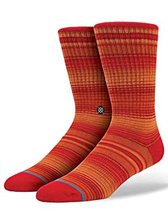 Stance Men's Augusta Crew Socks, Red, Large/X-Large