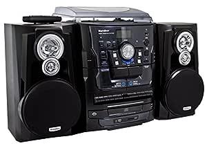 Karcher KA 350 - Minicadena (espacio para 3 CD, reproductor de casete, tocadiscos) (importado)