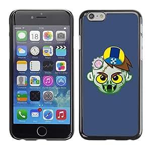 CaseCaptain Carcasa Funda Case - Apple Iphone 6 / Funny Zombie Illustration /