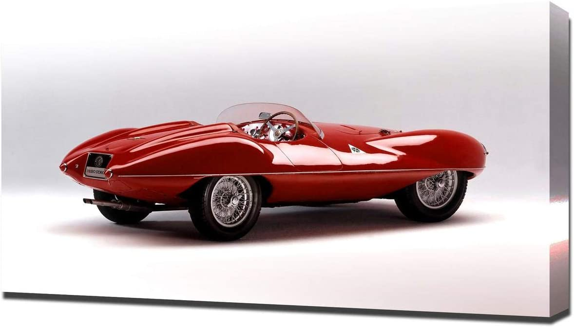 Lilarama USA 1952 Alfa Romeo C52 Disco Volante Touring Spider V3 - Canvas Art Print - Wall Art - Canvas Wrap