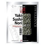 Kaneyama Yaki Sushi Nori / Dried Seaweed (Vacuum-packed/re-sealable), Premium Gold Grade (Full Size 50 Sheets 1 Pack) by Kaneyama