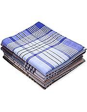 Dokpav Set van 6 stoffen zakdoeken voor heren, 40 x 40 cm, Arabia, 100% katoen, puur katoen, gemengde zakdoeken