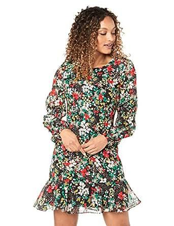 Cooper St Women's Dream Long Sleeve Fitted Mini, Print Dark, 10