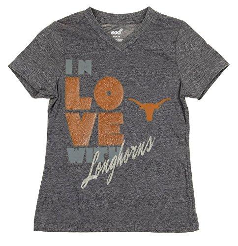 Outerstuff Texas Longhorns NCAA Youth Girls Pave Tri-Blend Short Sleeve T-Shirt (Medium (10-12)) ()