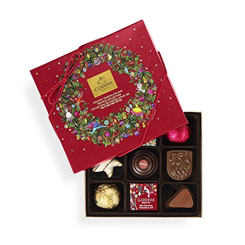 9ct Box (Godiva Chocolatier Assorted Chocolate Christmas Gift Box, 9 Count)