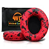 Upgraded Replacement Ear Pads for Audio Technica ATH M50X - Also Compatible with M50 M40X M40 Sony Mdr Monoprice 8328 and Many More Oval Shaped Headphones   Red Camo