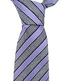 Ermenegildo Zegna Lavender Striped Silk Tie