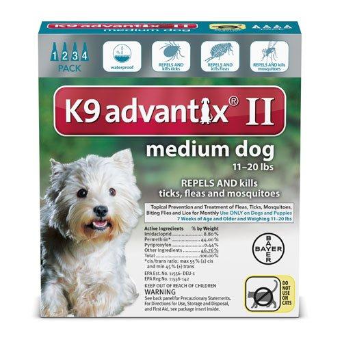 K9 Advantix II for dogs 11-20 pounds - 4 month supply by K-9 Advantix by Bayer Animal Health (Image #2)