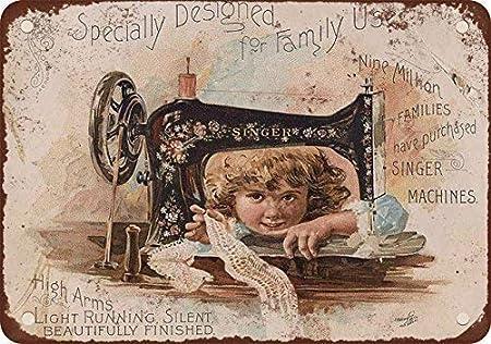 Monsety Singer máquina de Coser de Aspecto Vintage, Cartel ...
