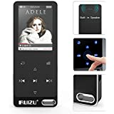RUIZU X19 Music Player, Built-in Speaker, Metal Style with FM Radio, Voice Recorder, E-book, Touch Button with 1.8'' Screen, 128GB Micro SD Card Support, Black