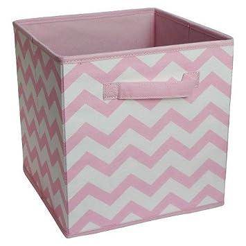 Merveilleux Fabric Cube Storage Bin 11u0026quot;   Pink Chevron   Circo