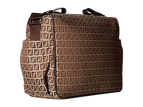 0f6ec87b342a Amazon.com   Fendi Kids All Over Diaper Bag Brown One Size   Baby