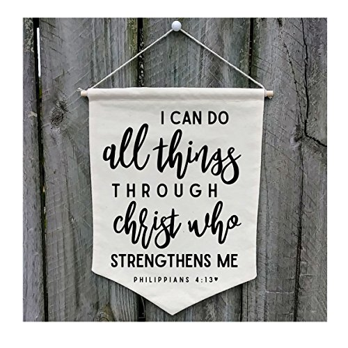 I Can Do All Things Through Christ Wall Banner - Customize WB74