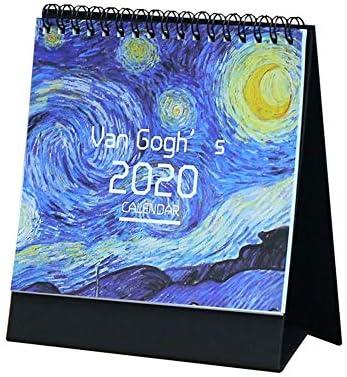 Chen0-super 2020 DIY Kalender mit Aufkleber für die Schule Schreibtisch Kalender Creative Schedule Memo