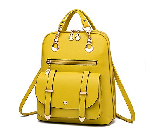 Bao Bandolera La Yellow Bolsa Universidad Hombro Cremallera Mensajero Moda Gray Bolso Metal De Estudiante YrwYXq