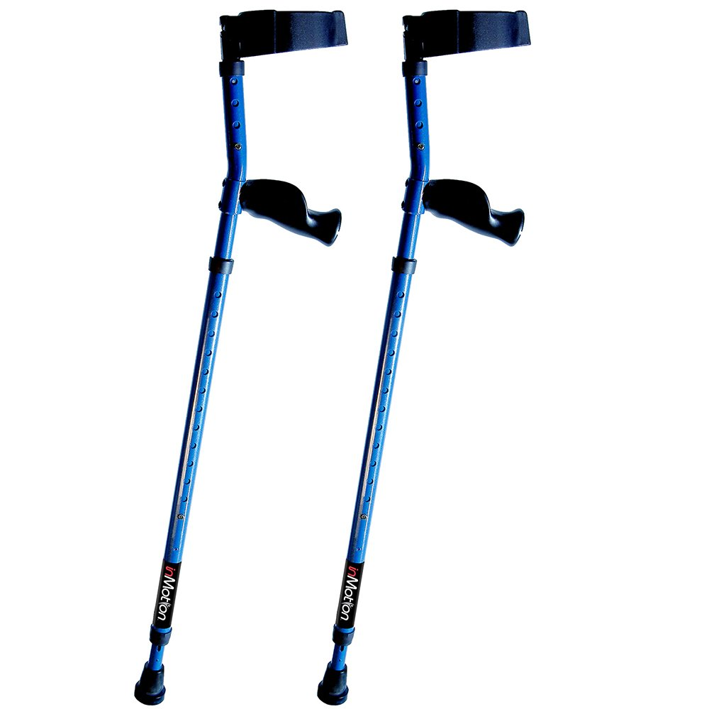 Millennial Medical In-Motion Forearm Style Heavy Duty Crutches - size Tall (4'9'' - 6'3'') | Metallic Blue